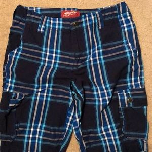 Boys shorts. 16 Husky. Color: Shades of blue.